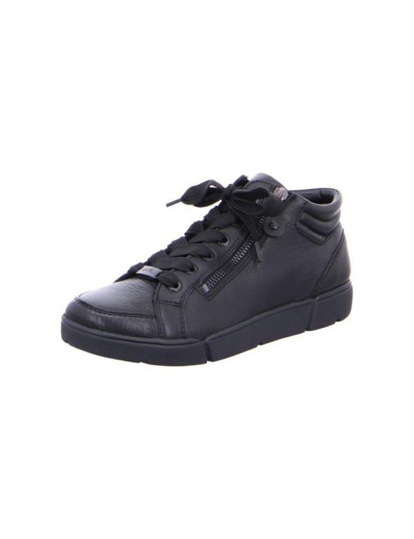 Womens high top black leather sneakers