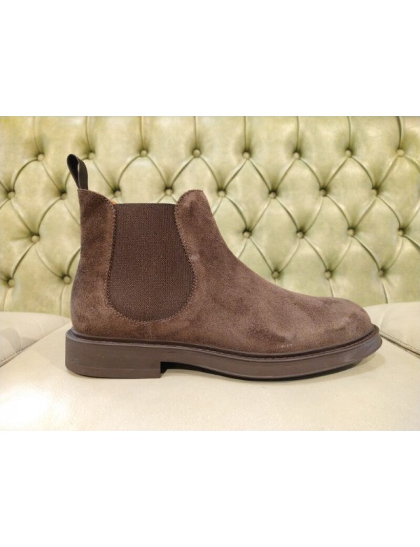 Made in Italy ankle boots for men, in brown leather