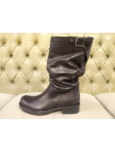 Womens black mid calf winter boots