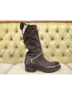 AS98 Stivali neri con tacco basso, inverno 2021-22