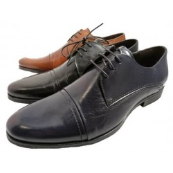 Cap toe shoes for men. By Nicola Benson