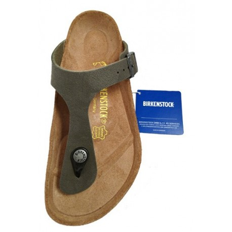 Birkenstock Gizeh thong sandal, brushed emerald green