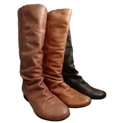 Rounded top Felmini leather boot