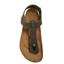 Birkenstock Kairo thong sandal, brushed emerald green