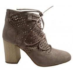 Leather ankle boots for ladies, by Dei Colli