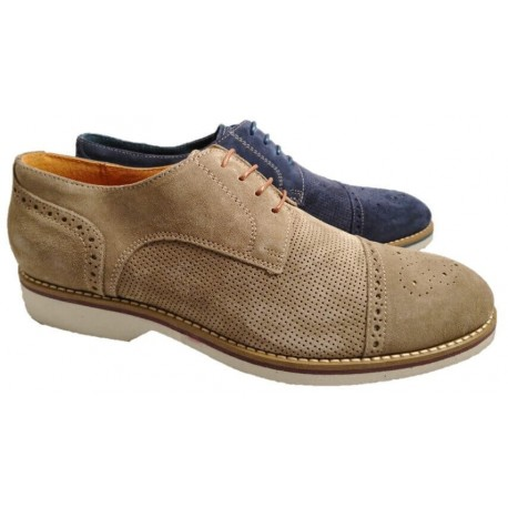 Italian suede leather shoes for men, made in Italy by Nicola Benson