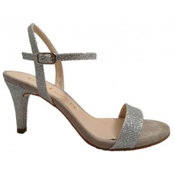 Silver leather sandals, by Unisa