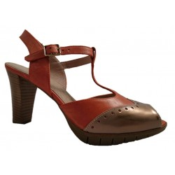 Wonders leather peep toe shoes  with heel