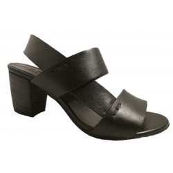 Italian black leather sandals, made in Italy by Zoe