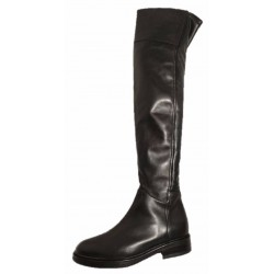 Black over the knee boots, made in Italy by Progetto
