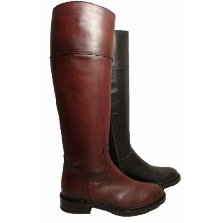 Leather riding boots for ladies, by Progetto