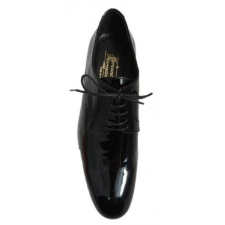 Mens patent leather shoes, made in Italy by Mercanti Fiorentini