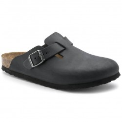 Birkenstock Boston, sabot in pelle nera
