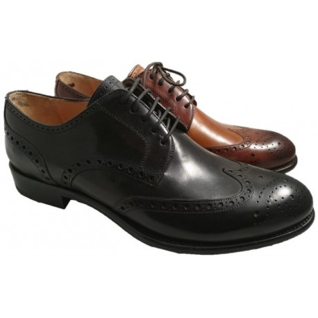 Italian cap toe shoes for men, made in Italy