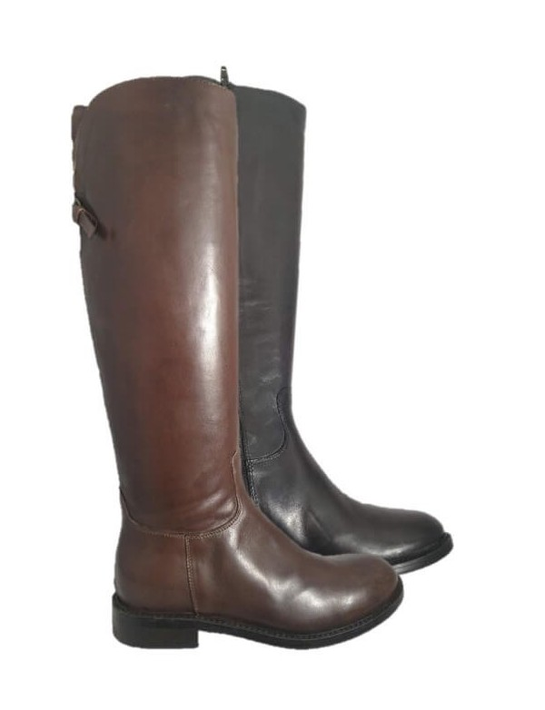 Italian leather high boots, by Progetto