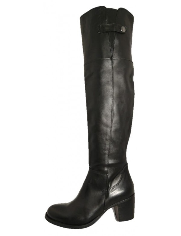 Over the knee boots mid heel, made in Italy