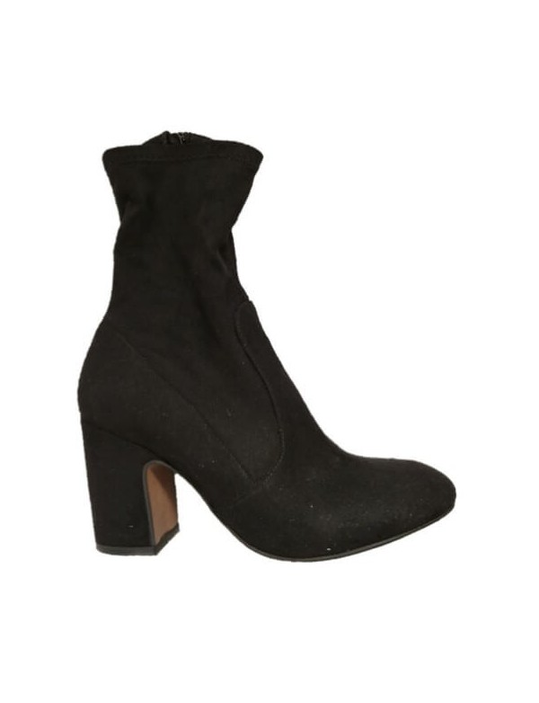 Italian suede leather ankle boots with heel