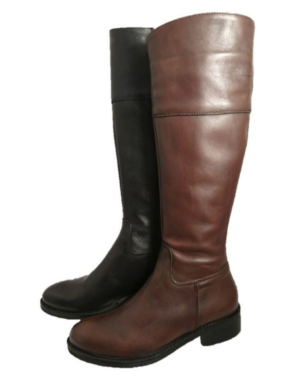 Handmade leather riding boots