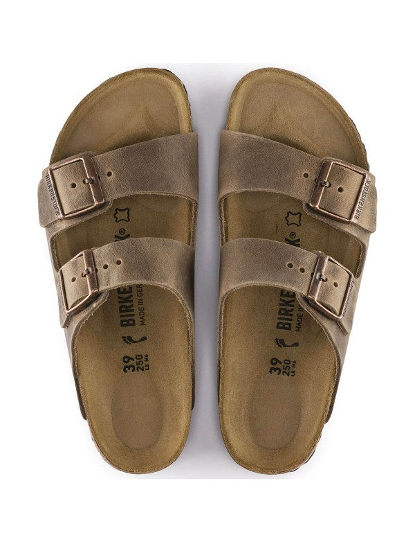Birkenstock sandalo Arizona marrone chiaro, in pelle