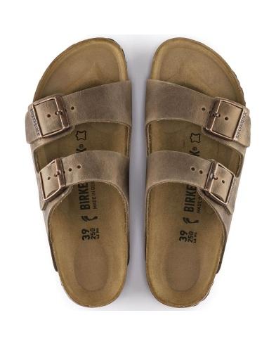 Birkenstock sandalo Arizona marrone chiaro, in pelle