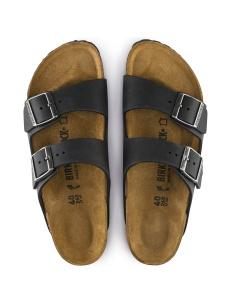 Birkenstock sandalo Arizona in pelle nera