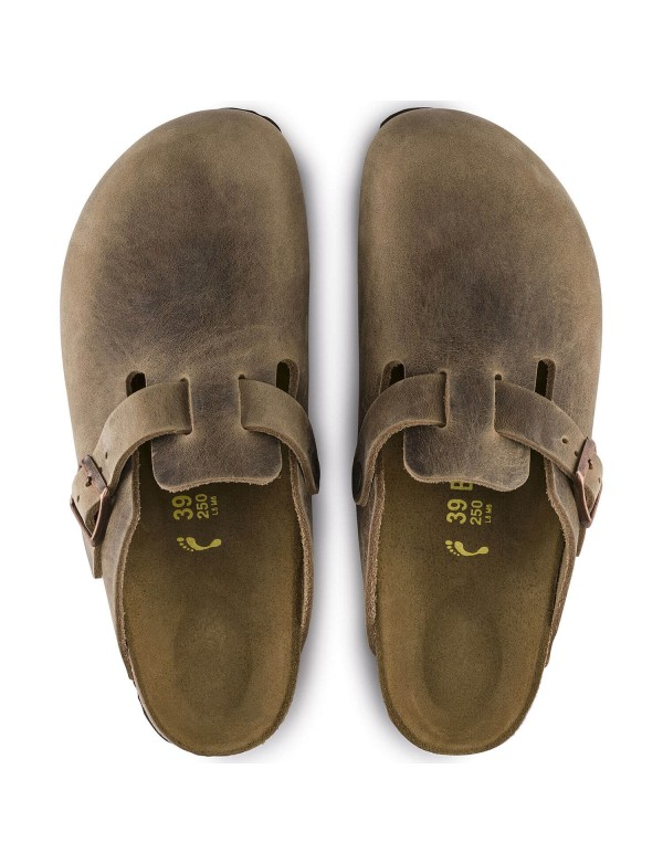Boston Birkenstock closed sandals, tobacco