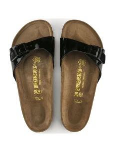 Birkenstock sandalo Madrid nero vernice