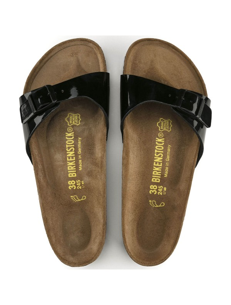 Birkenstock sandalo Madrid nero lucido 040303
