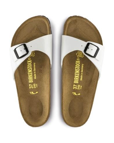 Birkenstock sandalo Madrid bianco vernice
