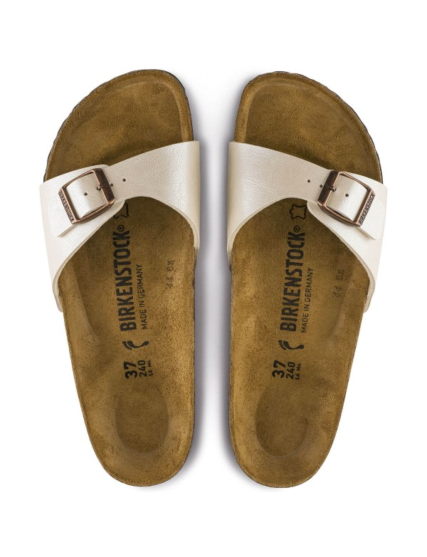 Single strap Birkenstock sandal, pearl white