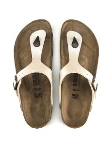 Birkenstock sandalo Gizeh bianco perla