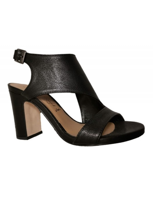 Peep toe leather sandals, made in Italy