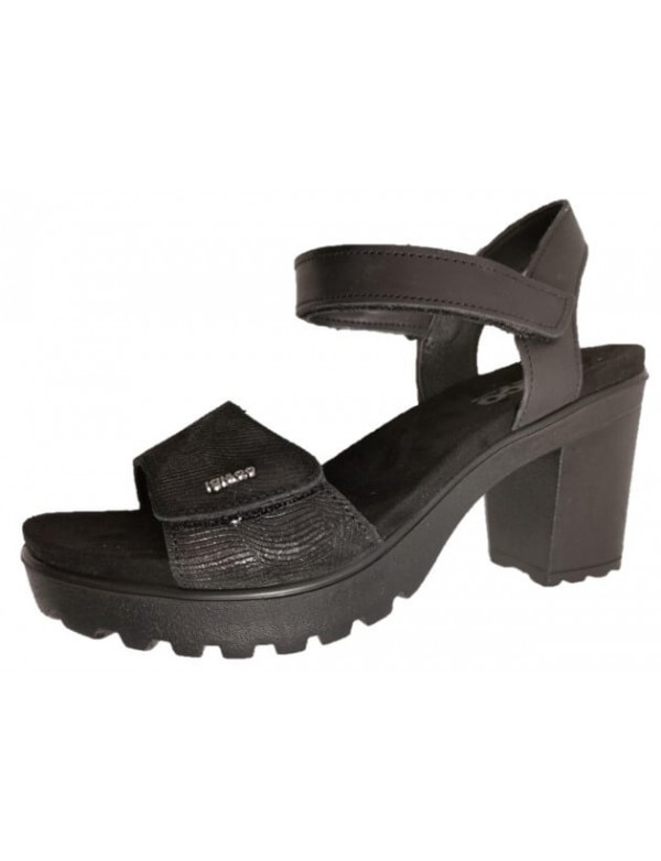 Wonders leather sandals with platform