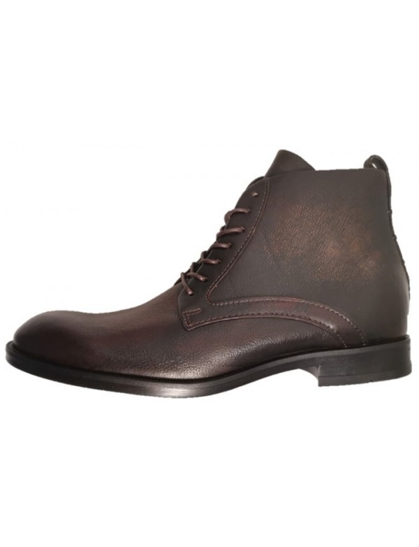 Winter leather boots for men, low cut