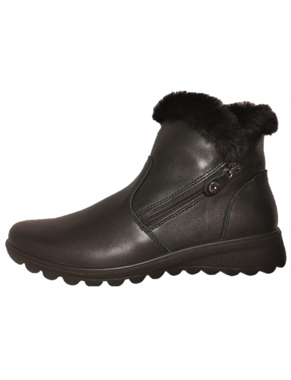 Ecologic fur ankle boots for ladies, made in Italy