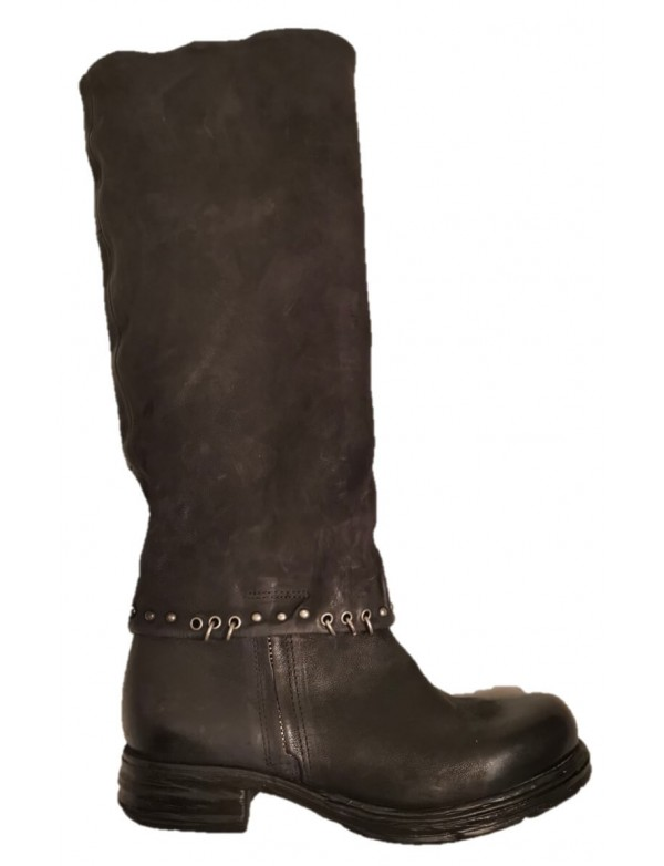Black leather boots for women, by AS 98