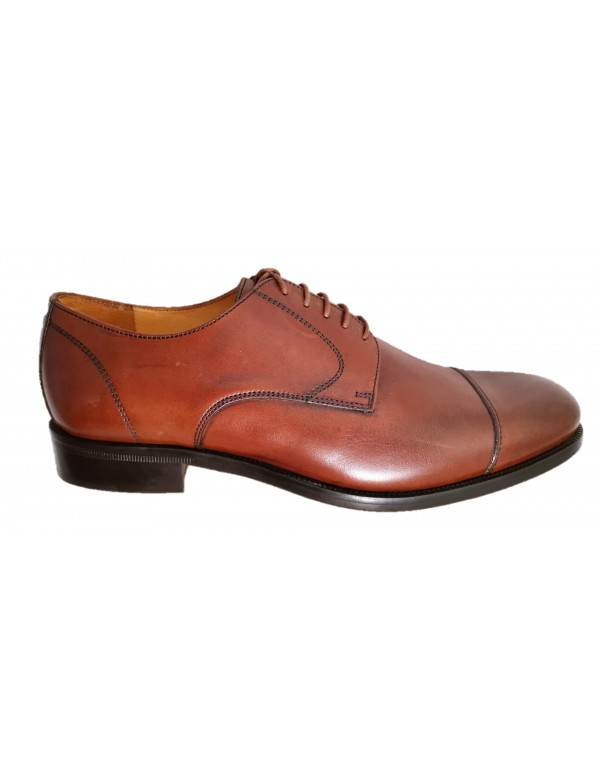 Brown leather shoes for men, made in Italy