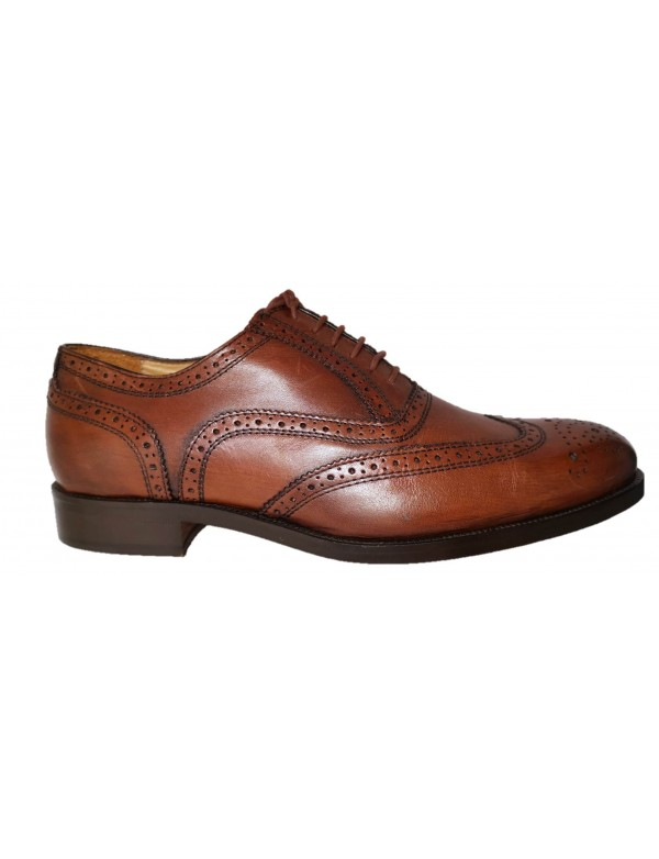 Brown leather wingtips