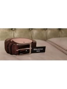 Cintura artigianale da uomo in pelle scamosciata marrone