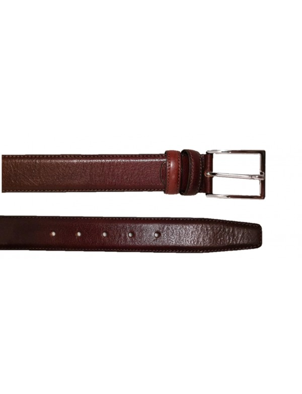 Italian leather belt for men, brown