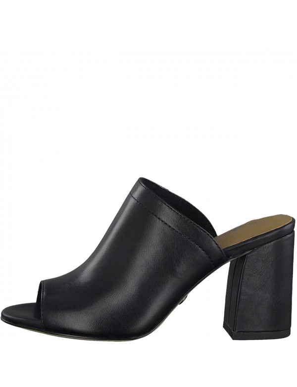 Black mules with high heel