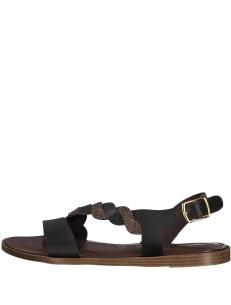 Glitter flat sandals