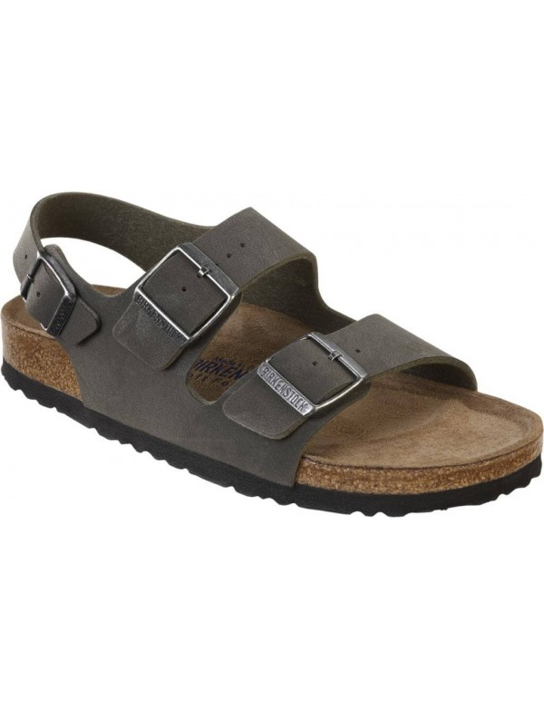 Milano sandals for men by Birkenstock, emerald green
