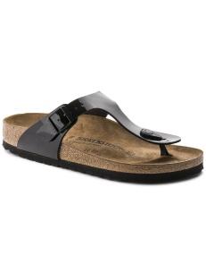 Birkenstock sandalo Gizeh nero lucido