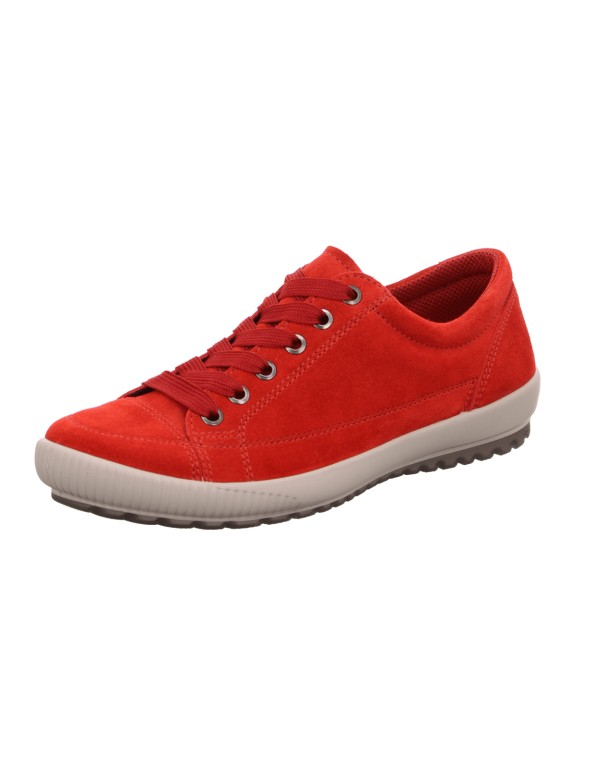 Red casual lace ups for ladies, Legero
