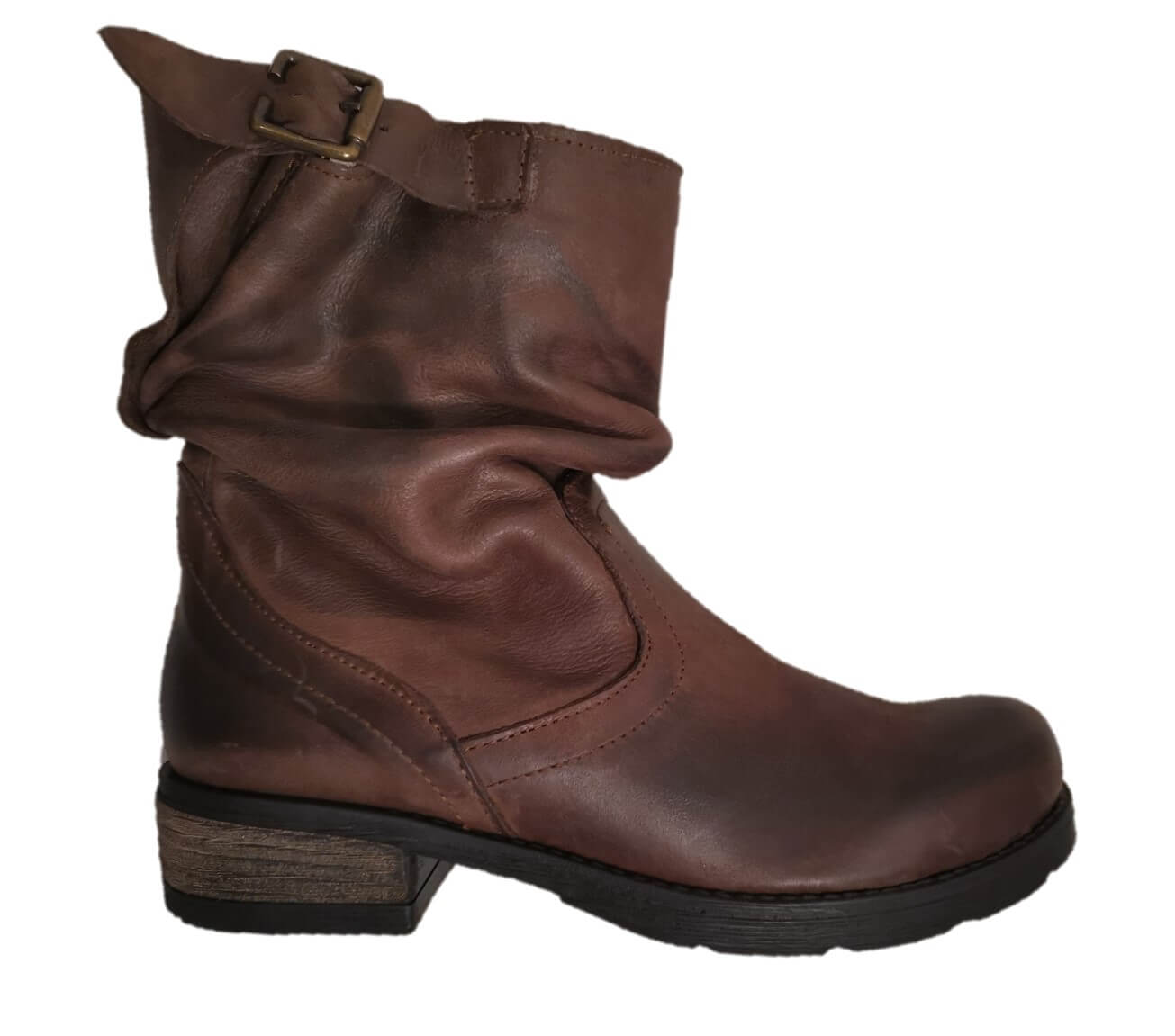 Brown low boots