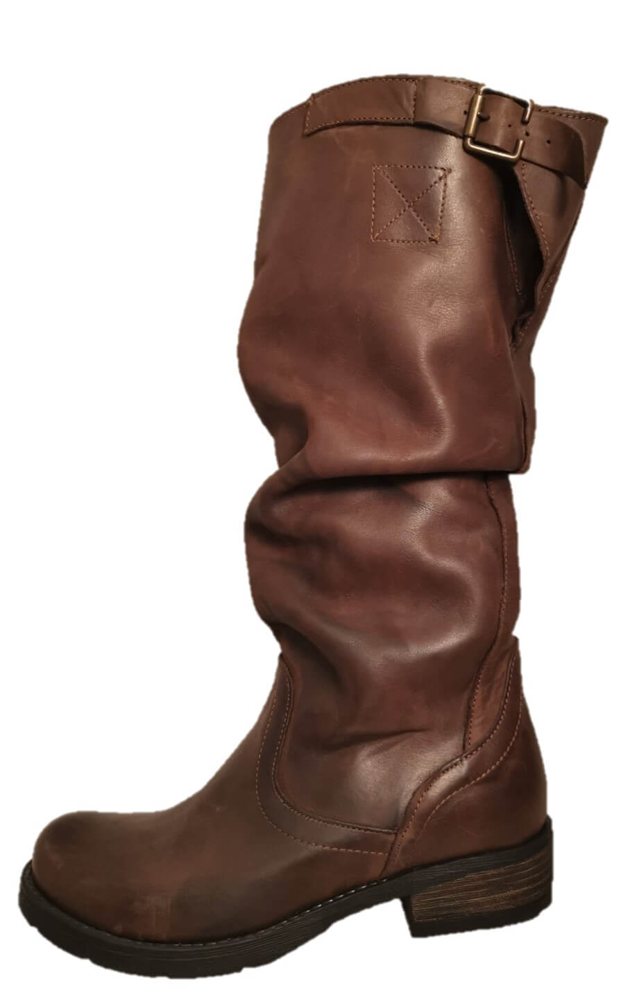 brown sloouch boots