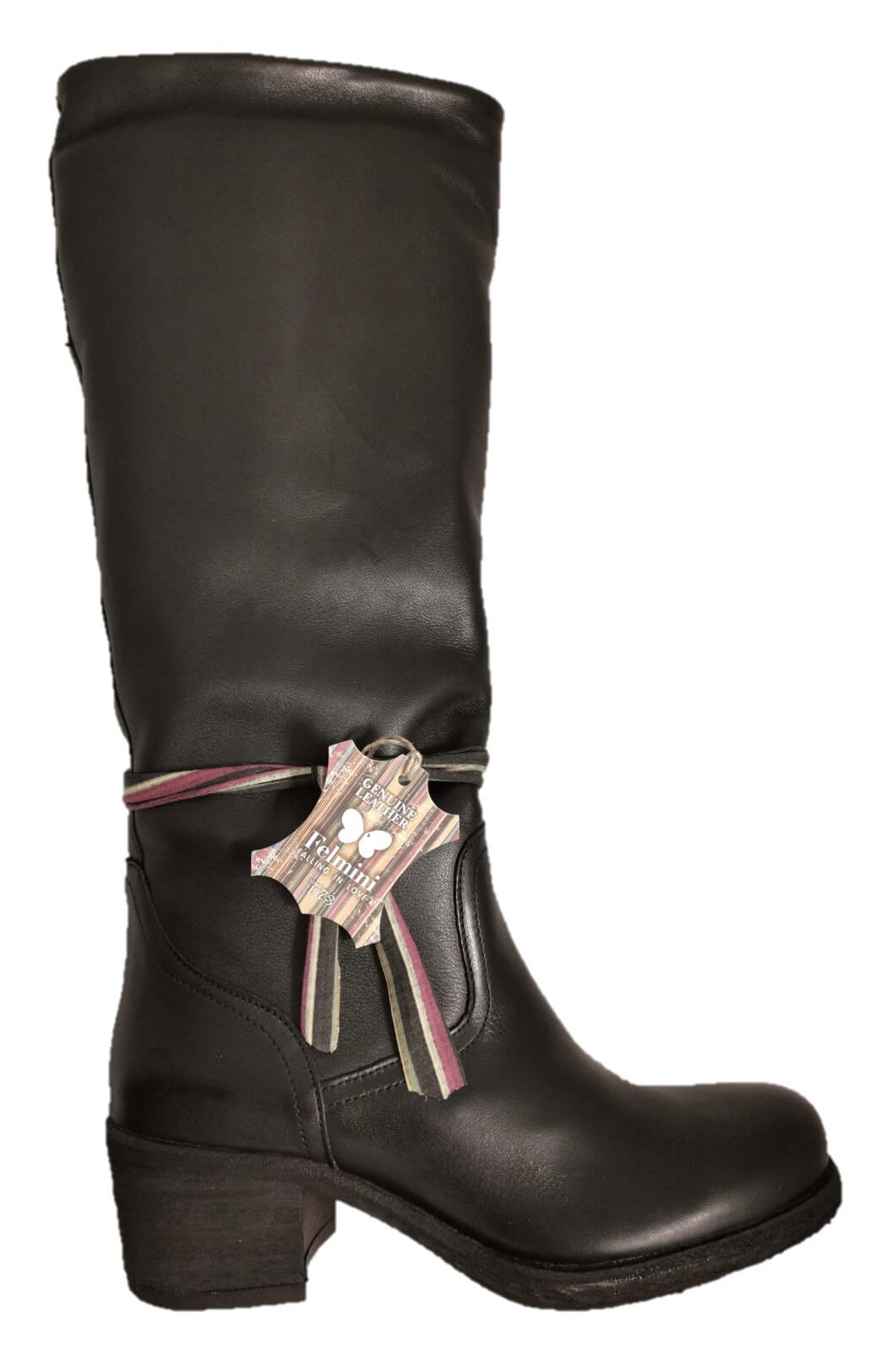 Black slouch boots
