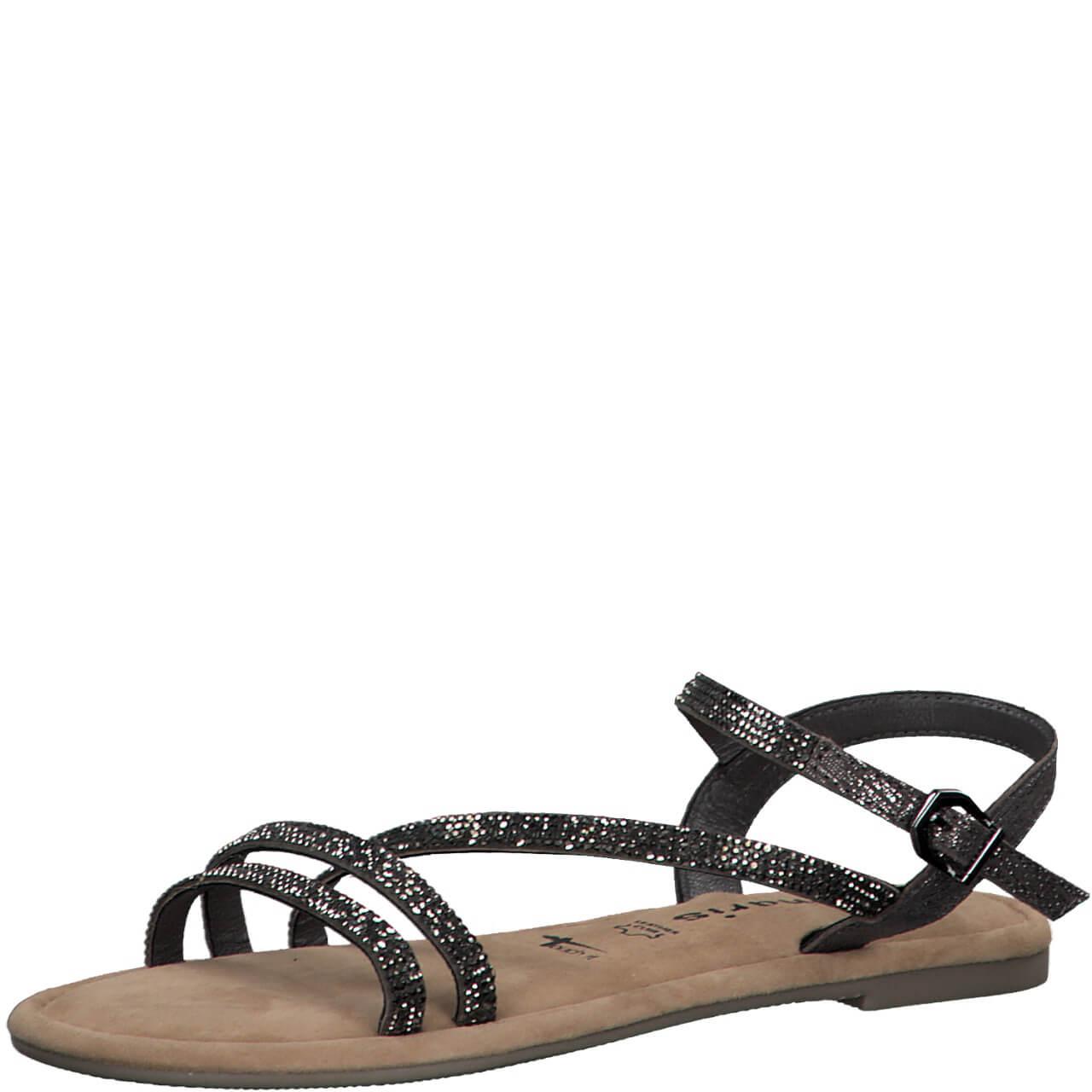 Pewter sandals