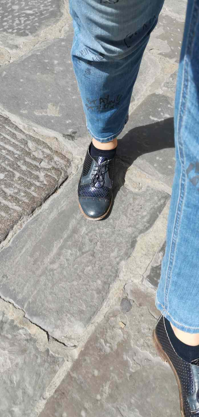 Scarpe francesine in pelle